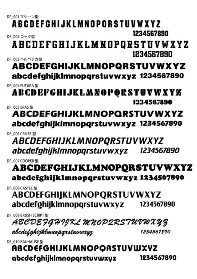 アフターコロナ対策オリジナルプリント名入れマスク用フォント