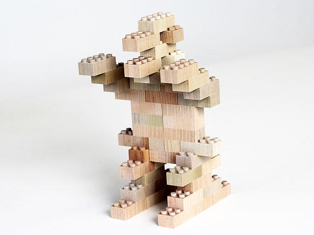 木製ブロック作品 怪獣