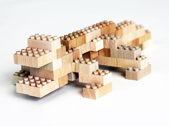 木製ブロック作品 ワニ